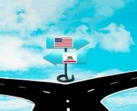 Självständighet av Förenta staterna från Kalifornien Arkivfoto