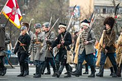 Självständighet av Polen Arkivbild