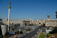 Självständighet kvadrerar, Kiev Fotografering för Bildbyråer