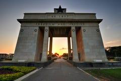 Självständighetbåge, Accra, Ghana Fotografering för Bildbyråer