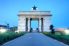 Självständighetbåge, Accra, Ghana Arkivbild