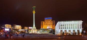 Självständighetfyrkant, huvudfyrkanten av Kyiv Arkivfoton
