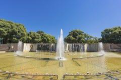Självständighetfyrkant i den Mendoza staden, Argentina royaltyfri bild