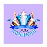 Självständighetsdagen av Argentina, illustration med stiliserade festliga fyrverkerier vektor illustrationer