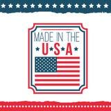 Självständighetsdagen av Förenta staternaaffischuppsättningen Royaltyfria Bilder