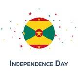 Självständighetsdagen av Grenada patriotiskt baner också vektor för coreldrawillustration stock illustrationer