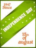 Självständighetsdagen av Indien Arkivfoto