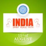 Självständighetsdagen av Indien Royaltyfri Bild