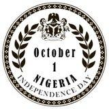 Självständighetsdagen av Nigeria Arkivbilder