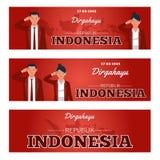 Självständighetsdagen av Republiken Indonesien vektor illustrationer