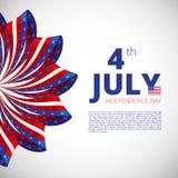 Självständighetsdagen av 4th juli Arkivbild