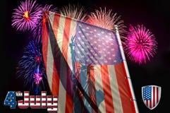 Självständighetsdagen flagga på bakgrunden av en honnör royaltyfria bilder