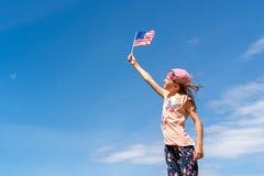 Självständighetsdagen flaggmärkesdagbegrepp Royaltyfri Foto