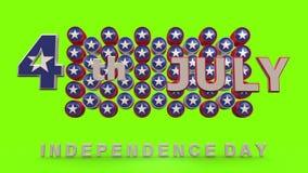 Självständighetsdagen med chromatangentbakgrund lager videofilmer