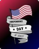 Självständighetsdagen - 4th av den Juli illustrationen Royaltyfria Bilder