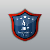 Självständighetsdagen 4th juli lycklig självständighet för dag Fotografering för Bildbyråer