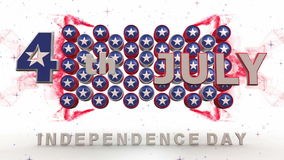 Självständighetsdagenanimering med magiska effekter stock video