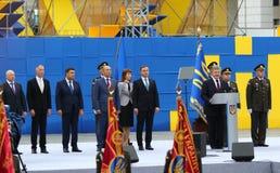 Självständighetsdagenberömmar i Kyiv, Ukraina arkivbilder