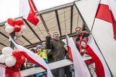 Självständighetsdagenberömmar i Polen royaltyfri foto