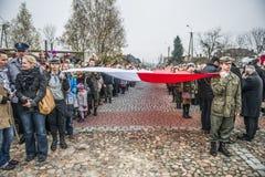 Självständighetsdagenberömmar i Polen royaltyfri bild