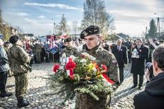 Självständighetsdagenberömmar i Polen royaltyfria foton