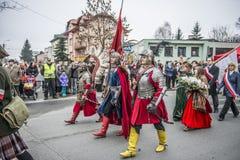 Självständighetsdagenberömmar i Polen fotografering för bildbyråer
