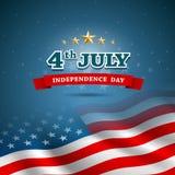 Självständighetsdagenflagga av amerikanen Arkivbild