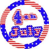 Självständighetsdagenkort Vektor Illustrationer