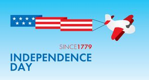 Självständighetsdagenmall Royaltyfri Fotografi