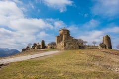 Sjätte århundrade för Jvari kloster, Mtskheta, Georgia Royaltyfria Foton