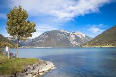 Sjö Achensee i Tirol Royaltyfria Bilder