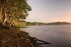 Sjö Ainsworth i New South Wales Australien Arkivbild