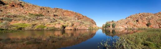 Sjö Argyle Western Australia Arkivbild