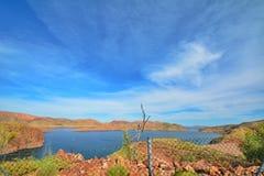 Sjö Argyle Western Australia Royaltyfria Bilder