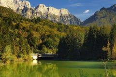 Sjö av Barcis (Friuli Venezia Giulia Fotografering för Bildbyråer