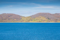 Sjö av Campotosto, Abruzzo italy Fotografering för Bildbyråer