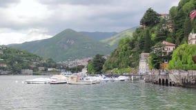 Sjö av Como, Italien - landskapsikt arkivfilmer