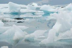 Sjö av Jokulsarlon, söder av Island Royaltyfri Foto