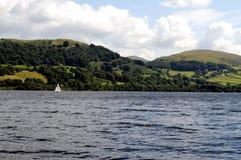 Sjö Bala i Snowdonia, norr Wales Arkivbilder