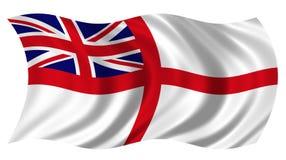 sjö- brittisk ensign Arkivbild