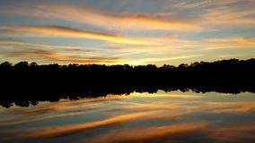 Sjö Charles Tosahatchee State Park FL Royaltyfria Bilder