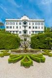 Sjö Como, Lombardy, Italien, 11 Maj 2012 Villa Carlotta Tremezzo Fotografering för Bildbyråer