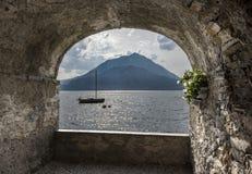 Sjö Como, Varenna, Italien royaltyfri foto