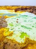 Sjö Dallol i den Danakil fördjupningen, Ehtiopia Arkivfoto