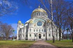 Sjö- domkyrka av St Nicholas Nikolsky Naval Cathedral Stavro Fotografering för Bildbyråer
