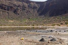 Sjö Etiopien för El-gräsmarkkrater Royaltyfri Foto