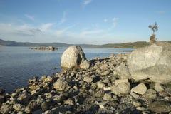 Sjö för Bracciano ` s, sikt från Anguillara Sabazia Arkivfoton