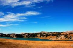 Sjö för Montana statberg Arkivbild
