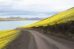 Sjö Frostastadavatn, Island Royaltyfri Fotografi