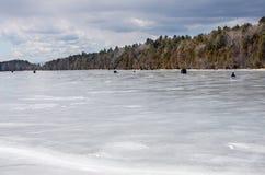 Sjö fryste Champlain Arkivfoton